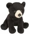 Pluche zwarte beer 19 cm