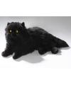 Pluche zwarte katten knuffel 35 cm