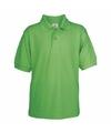 Poloshirt groen voor kinderen casual modern