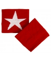 Pols zweetbandje rood met witte ster