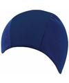 Polyester badmuts blauw voor volwassenen