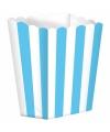 Popcorn bakjes lichtblauw 5 stuks
