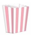 Popcorn bakjes lichtroze 5 stuks