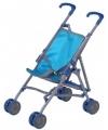 Poppen buggy blauw
