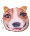 Portemonnee corgi hond 10 x 11 cm