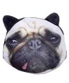 Portemonnee mopshond zwarte oren 10 x 11 cm