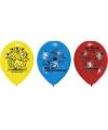 Power rangers feest ballonnen 6 stuks