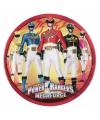 Power rangers feest bordjes 8 stuks