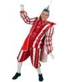 Prins carnaval kostuum rood wit