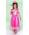 Prinses jurk roze lang