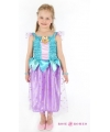 Prinses jurkje blauw paars