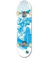Professioneel skateboard blauw wit