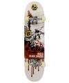 Professioneel skateboard rood wit