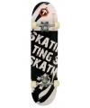 Professioneel skateboard zwart wit
