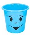 Prullenbakje blauw met gezichtje