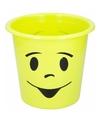 Prullenbakje groen met gezichtje