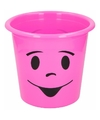 Prullenbakje roze met gezichtje