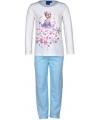 Pyjama frozen lichtblauw wit