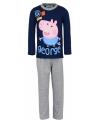 Pyjama peppa pig blauw met grijs