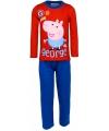Pyjama peppa pig rood met blauw