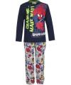 Pyjama spiderman zwart met grijs