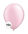 Qualatex ballonnen parel roze 10 stuks