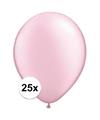 Qualatex ballonnen parel roze 25 stuks