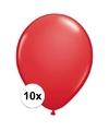 Qualatex ballonnen rood 10 stuks