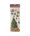 Raamsticker kerstoom met kerstballen