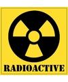 Radioactive gevaren sticker 10 5 cm