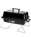 Rechthoekige barbecue zwart 28 x 43 cm met deksel