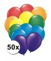 Regenboog ballonnen 50 stuks
