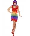 Regenboog flapper jurkje