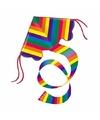 Regenboog vlieger gekleurd