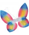 Regenboog vlinder vleugels voor kids