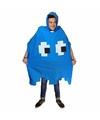 Regenponcho pacman spookje blauw