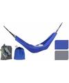 Reis hangmat blauw 200 x 140 cm