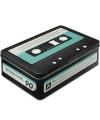 Retro cassette bewaarblik 23 cm