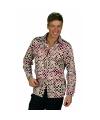 Retro overhemd voor heren met stippen