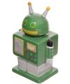 Retro robot spaarpot groen