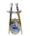 Ridderset 3 delig blauw zilver