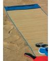 Rieten strandmat blauw