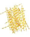Rietjes geel gestreept 24 stuks