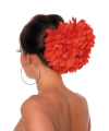 Rode bloem haarklem