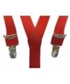 Rode bretels voor meisjes
