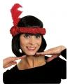 Rode charleston hoofdband