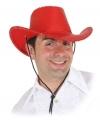 Rode cowboyhoed met pailletten
