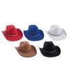 Rode cowboyhoeden met koord