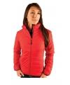 Rode dames jas waterafstotend fiberloft