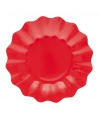 Rode diepe bordjes 27 cm